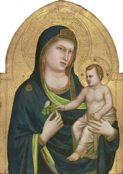 Giotto: Madonna and Child. Fine Art Print/Poster. Sizes: A4/A3/A2/A1 (004164)